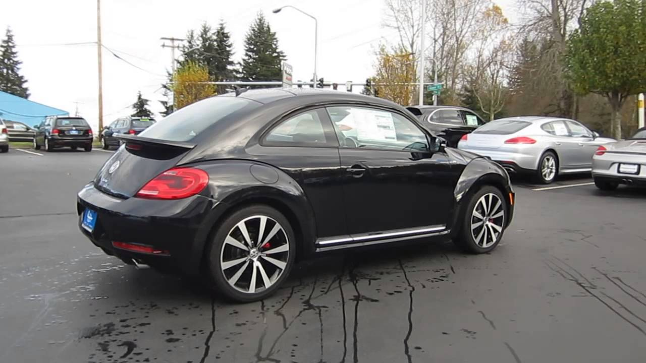 2014 volkswagen beetle deep black stock 109615 walk around youtube. Black Bedroom Furniture Sets. Home Design Ideas