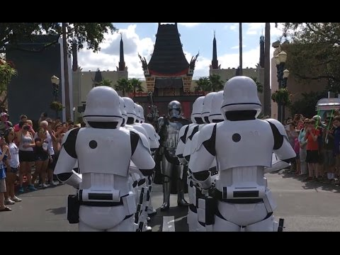 Captain Phasma leads Storm troopers in the March of the First Order - Disneys Hollywood Studios