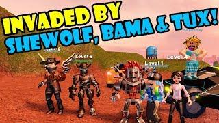 SHEWOLF, BAMA & TUX INVADE THE OGFAM! Roblox JAILBREAK