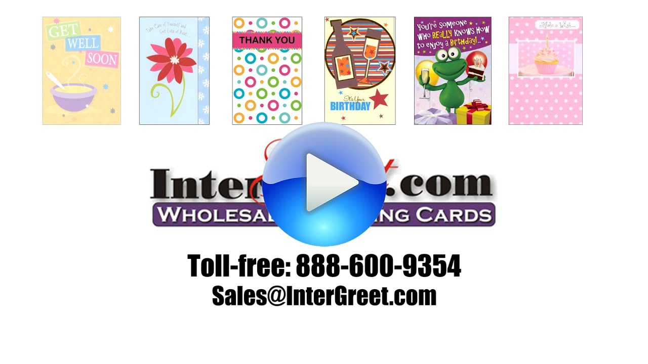 Intergreet wholesale greeting cards online distributor youtube intergreet wholesale greeting cards online distributor kristyandbryce Gallery