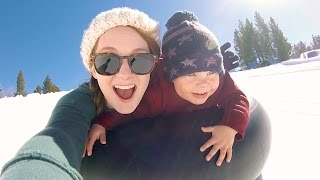 Snow Tubing - TODDLER SNOW TUBING! - #DBEJCKWinterVacay