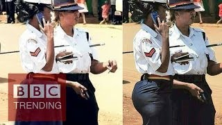 Too sexy for Kenya's police?