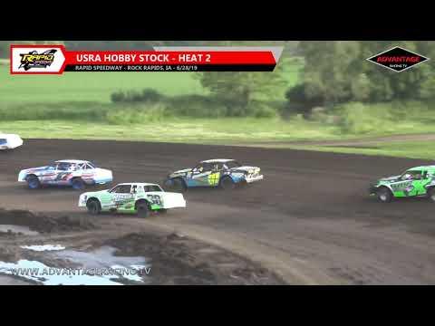 Hobby Stock Heats - Rapid Speedway - 6/28/19