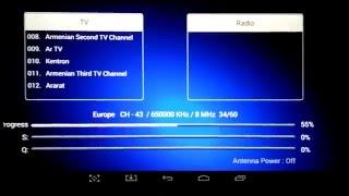 TV-Box Android K1 +tunner DVB T2