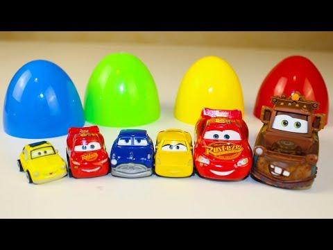 Видео для детей Сюрпризы Игрушки Тачки Мультик про игрушки Disney Cars toys eggs Surprise