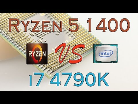 RYZEN 5 1400 vs i7 4790K - BENCHMARKS / GAMING TESTS REVIEW AND