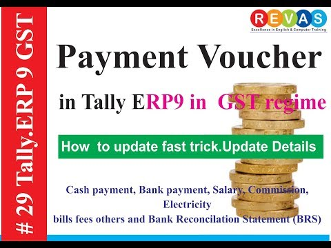 How to make payment entry in tally erp 9 (salary, bills, commission, pending bills, session-29