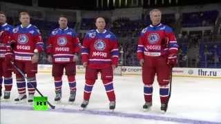 Владимир Путин забросил семь шайб в игре против сборной Ночной хоккейной лиги