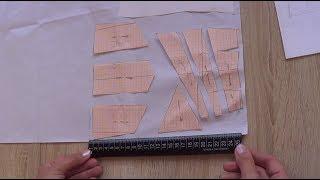 Как рассчитать количество ткани на асимметричную юбку с помощью масштабной линейки