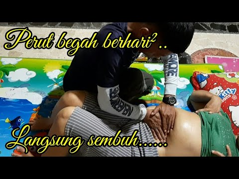 Reflexology massage - therapy beautiful aunt's stomach can not fart immediately healed