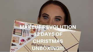 MAKEUP REVOLUTION 12 DAYS OF CHRISTMAS UNBOXING!!!