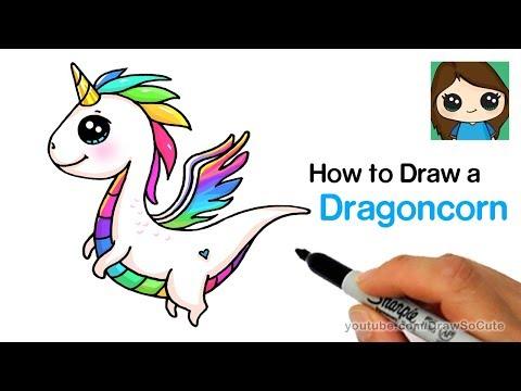 How to Draw a Dragon Unicorn   Dragoncorn