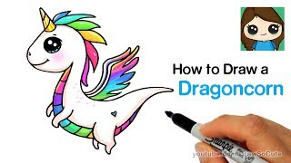 How to Draw a Dragon Unicorn | Dragoncorn