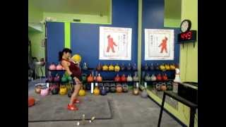 KB Single Long Cycle Practice with 16kg bell