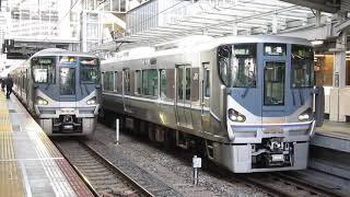 JR西日本 225系0番台 快速 米原行き 兵庫駅 大阪駅  20181209