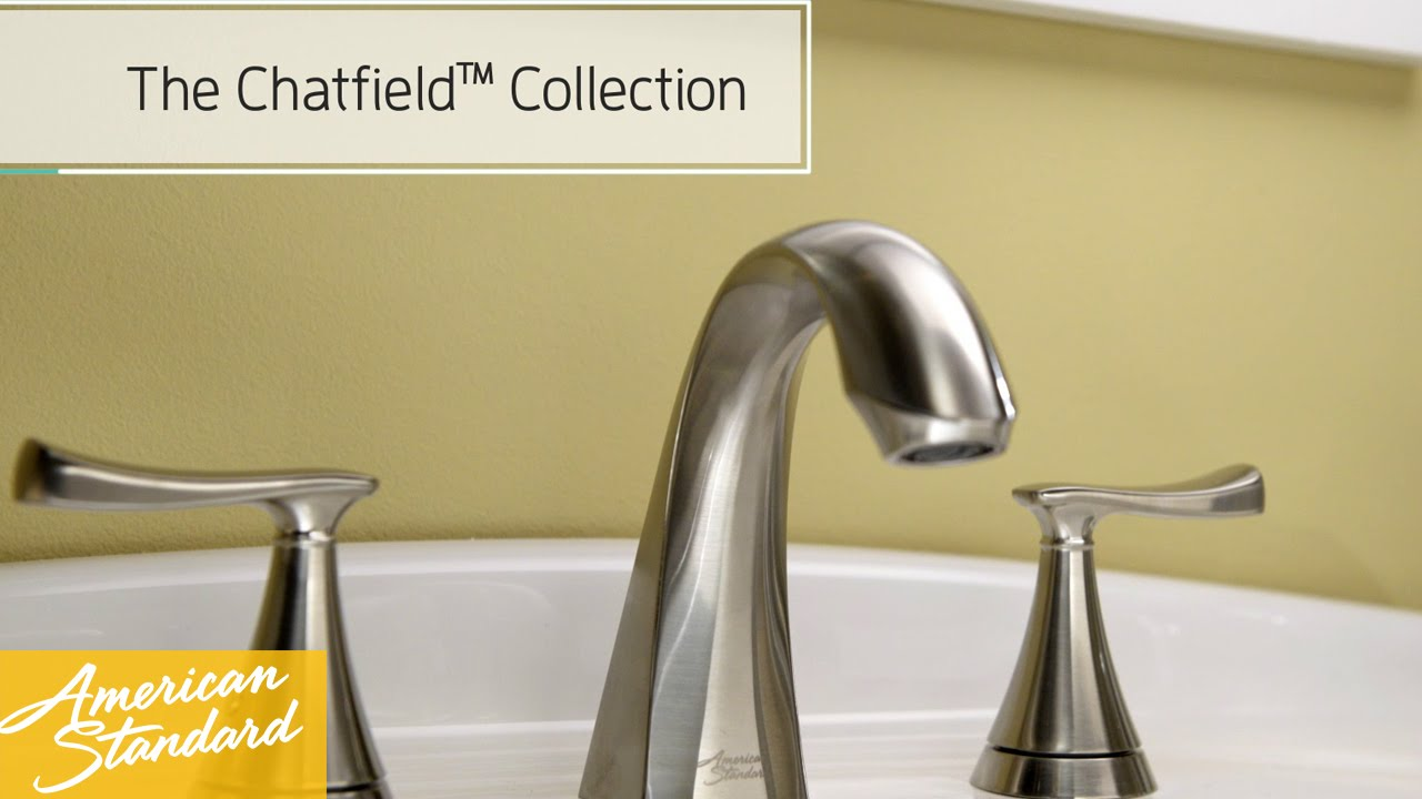 American Standard Chatfield Bathroom Faucet - YouTube