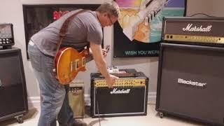 Marshall JVM 410C 100 watt combo meets Tokai Les Paul....forgot how much I love this amp :-)