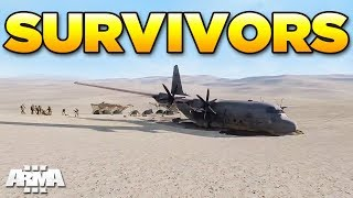 SURVIVORS - C130 Crash | Arma 3 Zeus