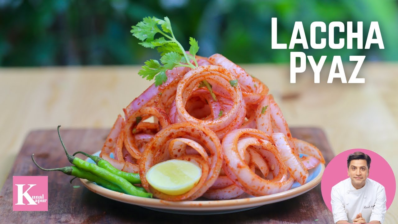 Dhaba Style Laccha Pyaz Recipe   Masala Pyaz   Chatpata Onion Salad   Kunal Kapur Restaurant Recipes