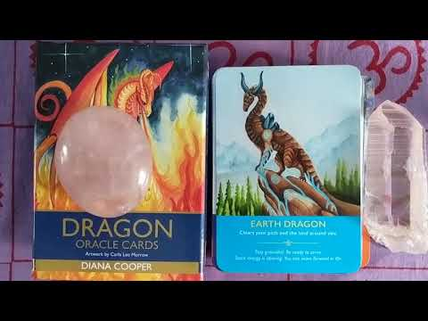 Dragon Oracle Cards By Diana Cooper: A Deck Review And Complete Flip-through