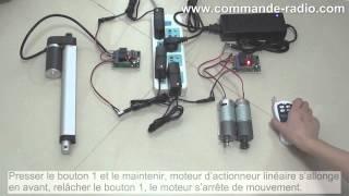 Kit Émetteur Récepteur Électrique Pour Moteur 2 Canaux 4 Boutons