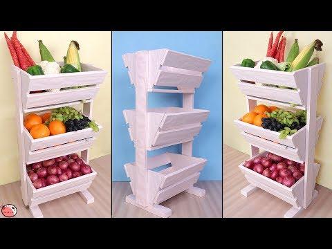 DIY Kitchen Organizer !! Fruit and Vegetable Storage Idea