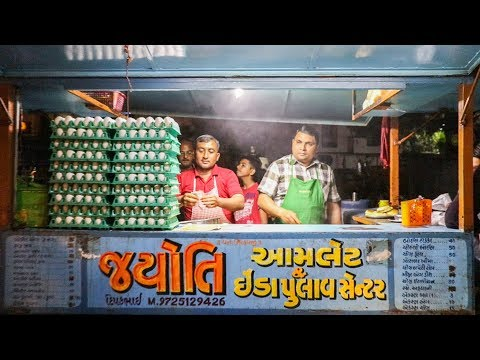 EGG MUGHLAI & EGG GHOTALA at Jyoti Omelette Center | Indian Street Food