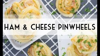 Ham & Cheese Pinwheels | Easy Appetizer | Lunch Recipe Idea | Total Noms