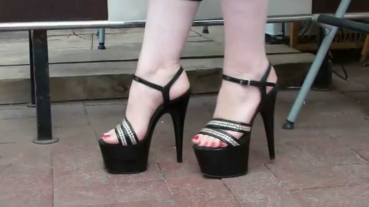 Sexy Feet In Bling Platform High Heel S Youtube