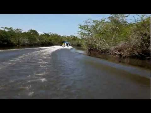 river ride to the temple of the Jaguar on the New River in Belize