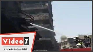 الحماية المدنية تواصل تبريد حريق الرويعى بمنطقة العتبة