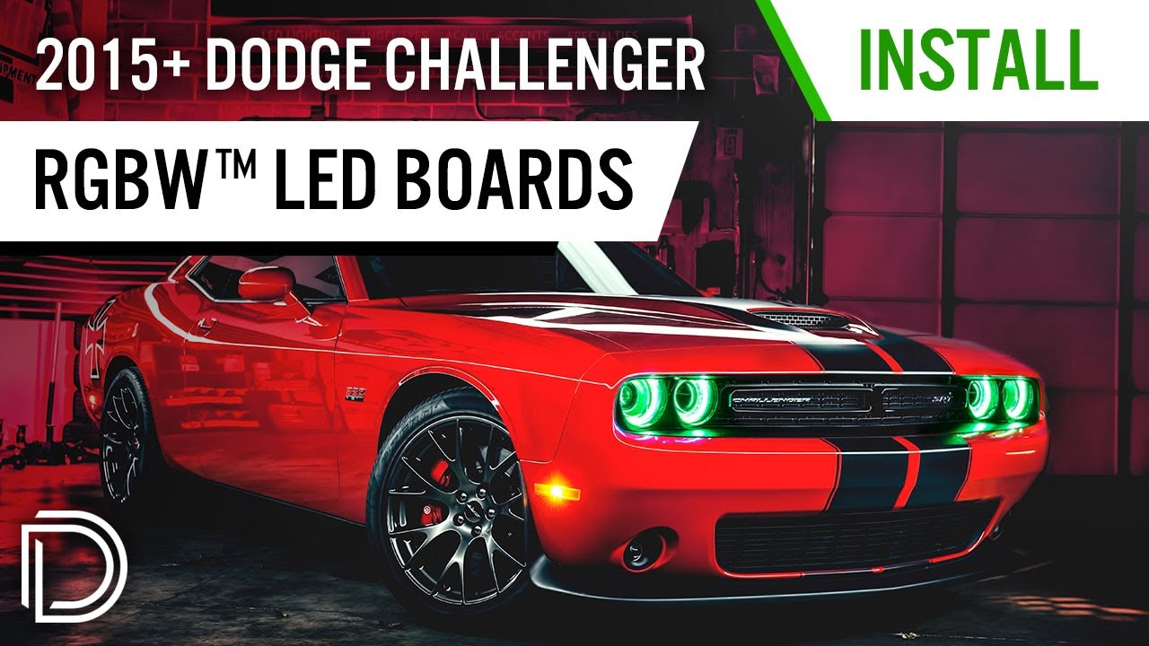 How to install 2015 dodge challenger rgbw drl led boards by diode dynamics youtube