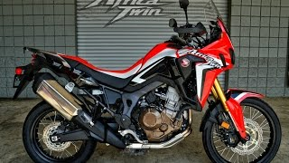2016 Honda Africa Twin CRF1000L Start Up / Walk-Around Video - Adventure Motorcycle(2016 Honda Africa Twin Review / Specs / Horsepower & Torque Performance Numbers etc at http://www.HondaProKevin.com. ----------------------------------- Follow ..., 2016-05-22T03:56:47.000Z)