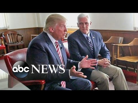Donald Trump, Mike Pence Full Interview : Set to 'Divide and Conquer'