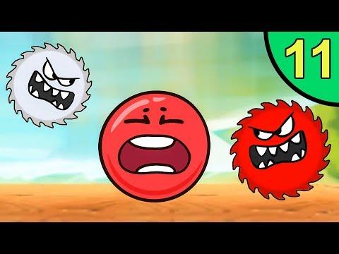 Несносный КРАСНЫЙ ШАР против монстров #11. Лесная долина 2. Мультик ИГРА Red Ball на Игрули TV