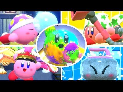 Kirby Star Allies - All Copy & Friends Abilities