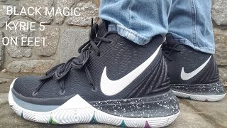BLACK MAGIC'' KYRIE 5 ON FEET REVIEW
