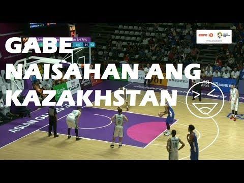 GABE GULANG PLAY - Philippines Vs Kazakhstan | ASIAN GAMES 2018