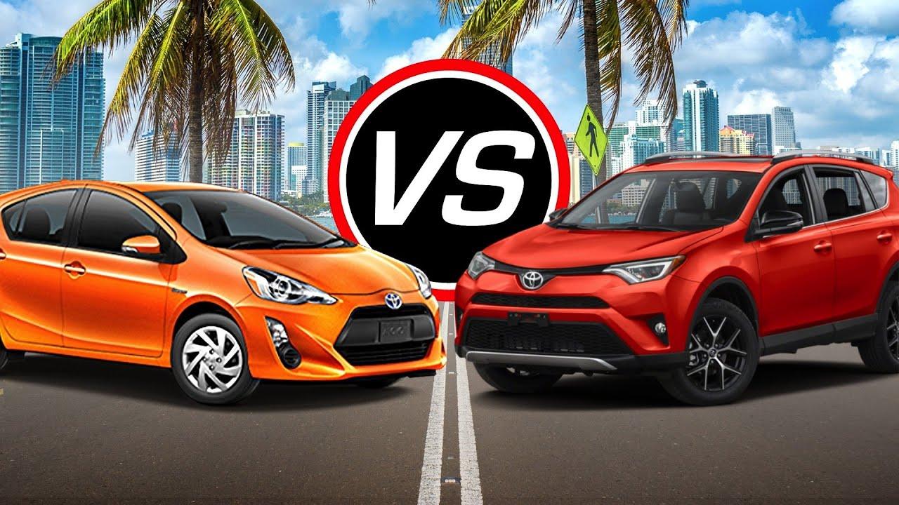 2016 Toyota Prius C Vs Rav4 Spec Comparison