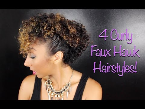 4 Curly Faux Hawk Hairstyles Biancareneetoday Youtube