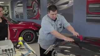 repairing aluminum body panels with collision damage