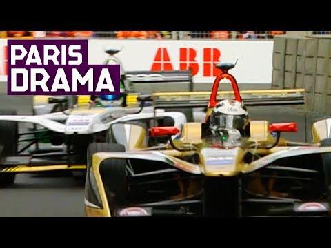 André Lotterer vs Lucas di Grassi | Race drama at the 2018 Qatar Airways Paris E-Prix