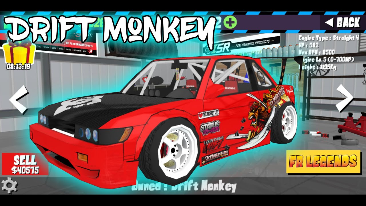 FR LEGENDS Mod Livery | Drift Monkey Cars | Texture Replacement Mod !!!