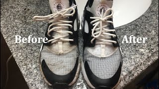 How to clean Nike Huaraches Run Ultra with household materials!