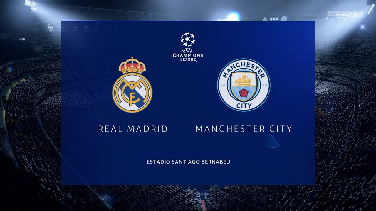 Real Madrid Vs Manchester City 2020 Uefa Champions League 2019