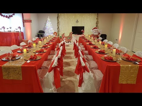 DIY GLAM TABLE SETTING | Red Gold Table Setting | Christmas Party Table | DIY WEDDING RECEPTION