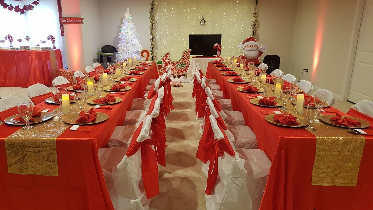 DIY GLAM TABLE SETTING | Red Gold Table Setting | Christmas Party Table |  DIY WEDDING RECEPTION - YouTube