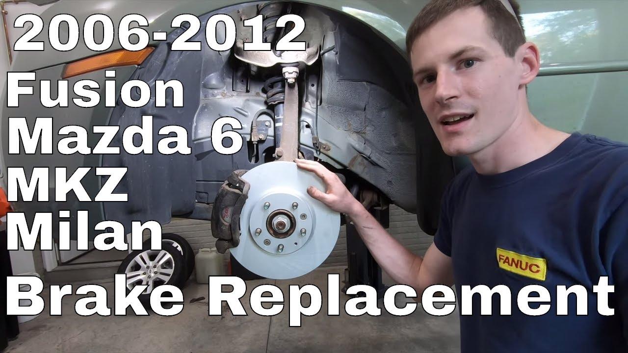 2006-2012 Lincoln Zephyr//MKZ REAR Brake Rotors /& Brake Pads w//Clips Hardware Kit Premium GRADE for 2006-2012 Ford Fusion - Detroit Axle - 06-13 Mazda 6 NO MazdaSpeed - 2006-2011 Mercury Milan