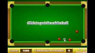 La premiere partie de ma premiere vidéo sur un jeux de billard