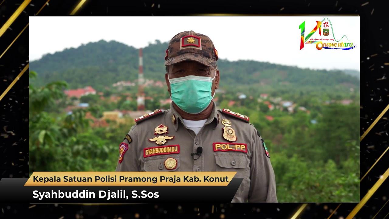 Ucapan HUT Ke-14 Kabupaten Konawe Utara Syahbuddin Djalil, S.Sos